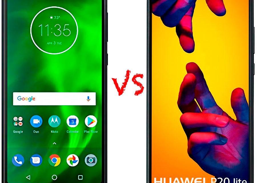 Comparativa Motorola Moto G6 vs Huawei P20 Lite
