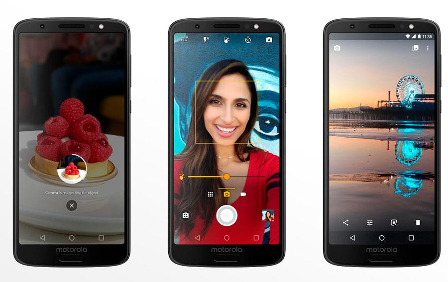 comparativa Motorola Moto G6 vs Huawei P20 Lite cámaras Moto G6
