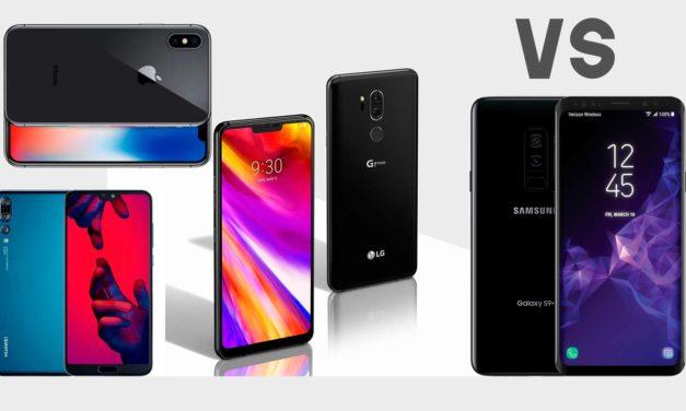 Comparamos el LG G7 ThinQ con sus principales competidores