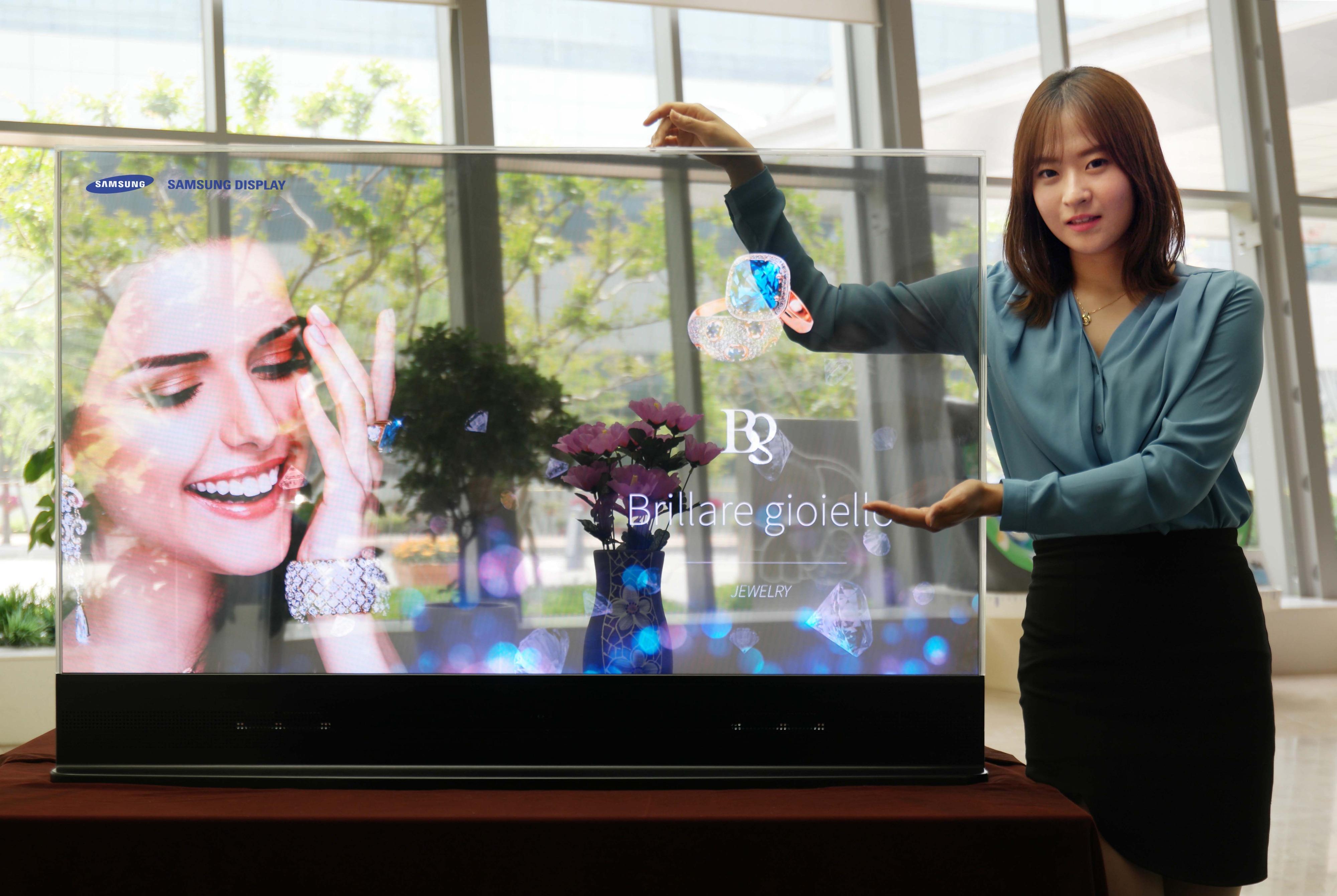 pantalla tv transparente samsung