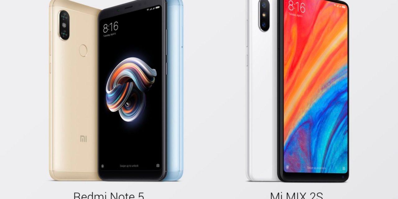 Xiaomi Mi Mix 2S y Xiaomi Redmi Note 5, precio y tiendas en España