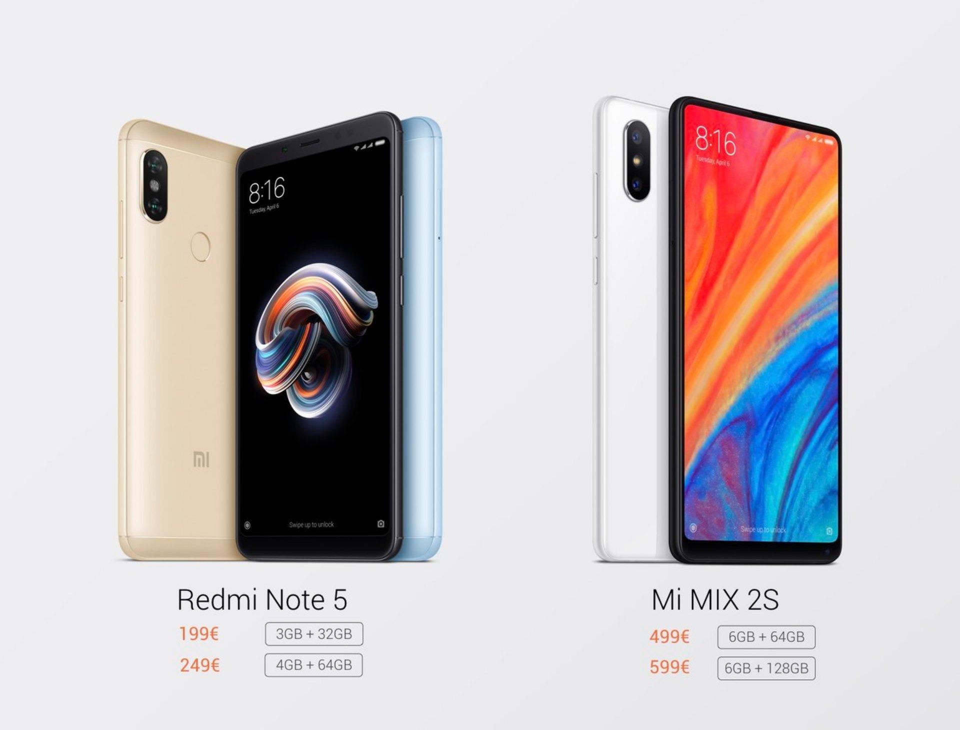 Xiaomi Mi Mix 2s Y Xiaomi Redmi Note 5 Precio Y Tiendas