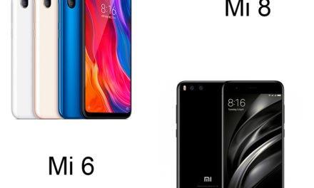 5 diferencias entre el Xiaomi Mi 8 y el Xiaomi Mi 6