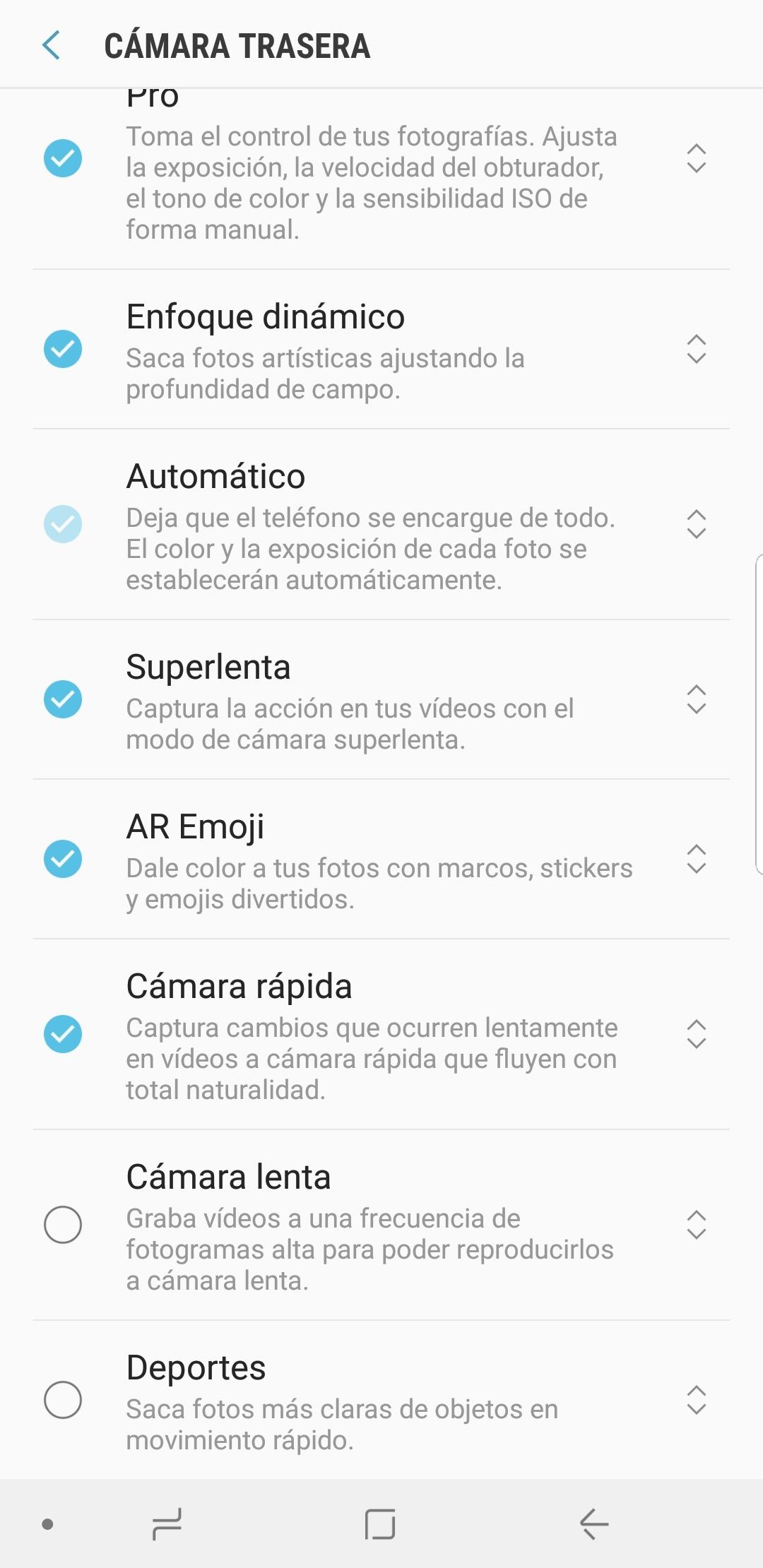 Cómo activar el modo Deportes en la cámara del Samsung Galaxy S9