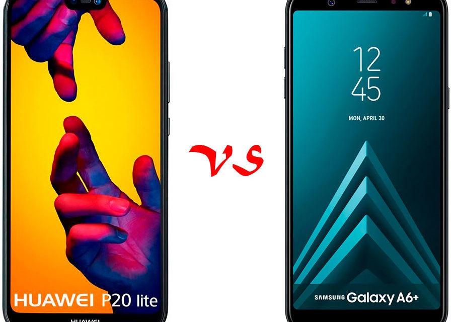 Comparativa Huawei P20 Lite vs Samsung Galaxy A6+