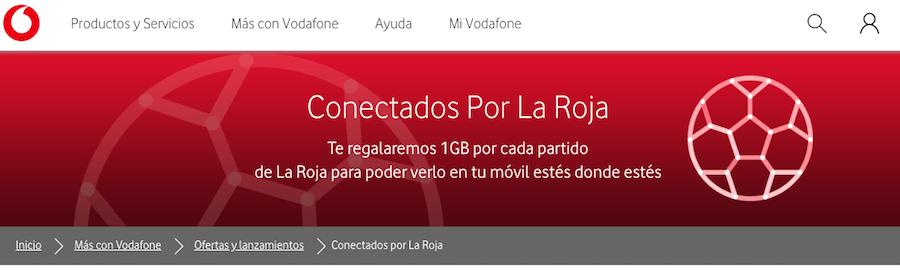 Vodafone regalará 1 GB de datos cada vez que juegue España en el Mundial