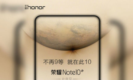 Una foto compara la pantalla del Honor Note 10 a la de la Nintendo Switch