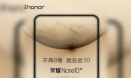 Una nueva imagen del Honor Note 10 confirma su enorme batería