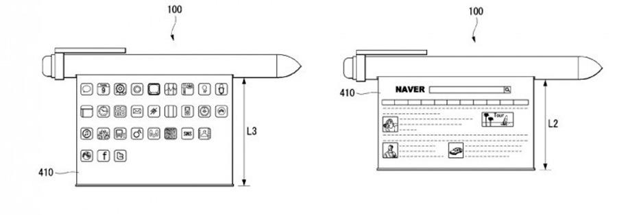 smartphone bolígrafo de LG pantalla