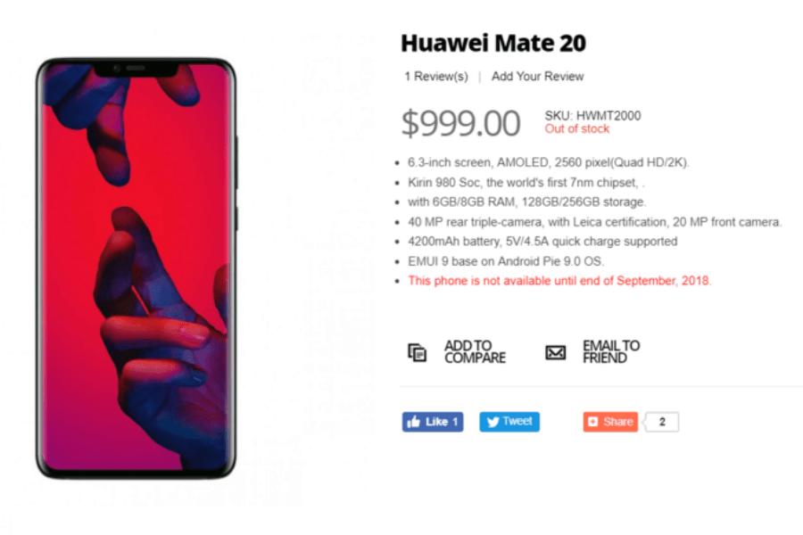 Huawei Mate 20 bateria