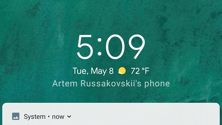 pantalla bloqueo android p