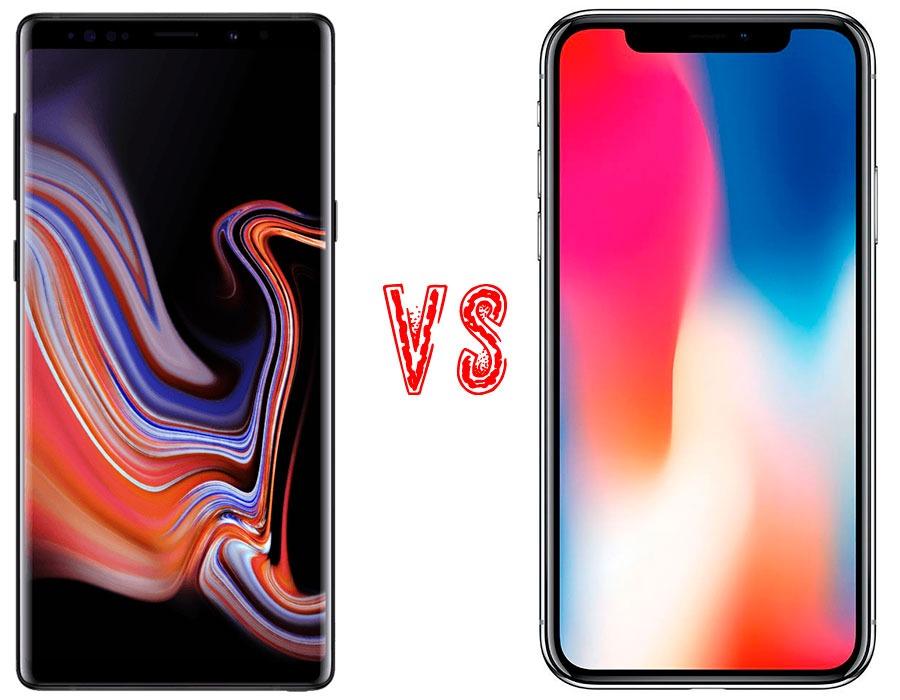 71824b8bb80 Comparativa Samsung Galaxy Note 9 vs iPhone X