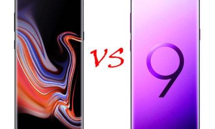 Comparativa Samsung Galaxy Note 9 vs Samsung Galaxy S9+
