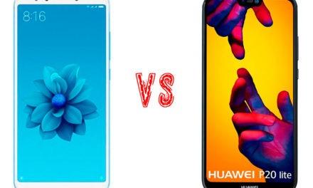 Comparativa Xiaomi Mi A2 vs Huawei P20 Lite