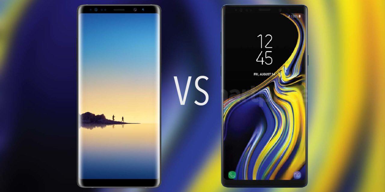 Comparativa Samsung Galaxy Note 9 vs Samsung Galaxy Note 8