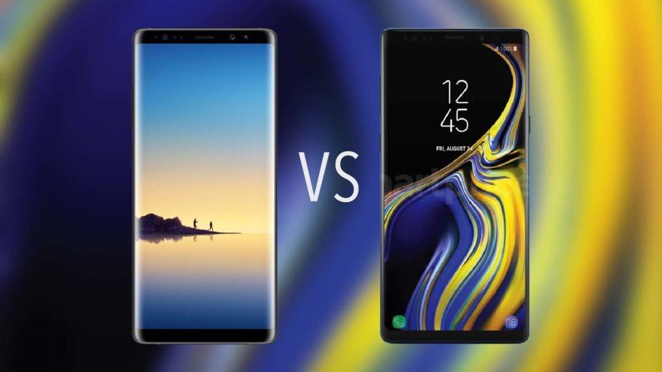 Comparativa Samsung™ Galaxy™ Note nueve vs Samsung™ Galaxy™ Note 8