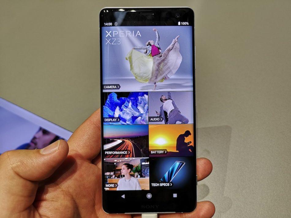 Sony Xperia XZ3 pantalla