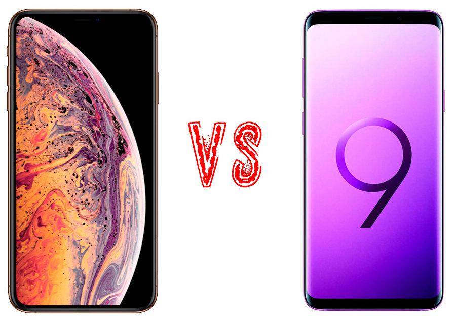 iphone xs mas vs samsung galaxy note 9