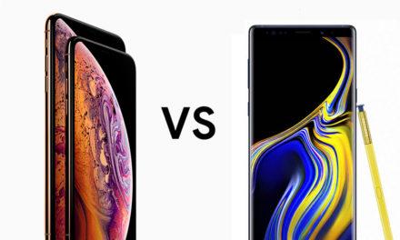 Comparativa Samsung Galaxy Note 9 vs iPhone Xs Max