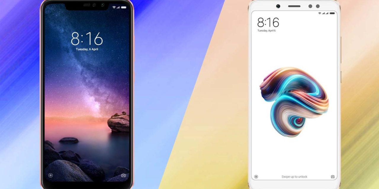Comparativa Xiaomi Redmi Note 5 vs Xiaomi Redmi Note 6 Pro
