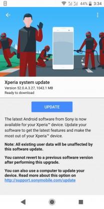 android 9 sony xperia xz2 2