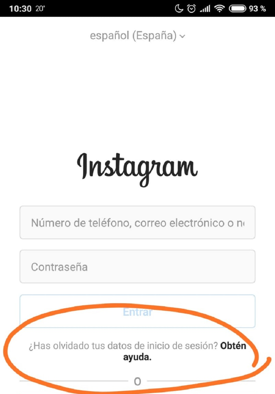 No puedo iniciar sesión en Instagram, ¿qué puedo hacer? 1