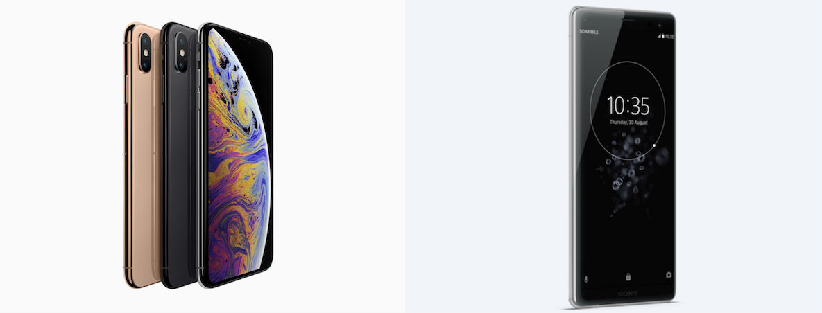 Comparativa iPhone Xs Max vs Sony Xperia XZ3