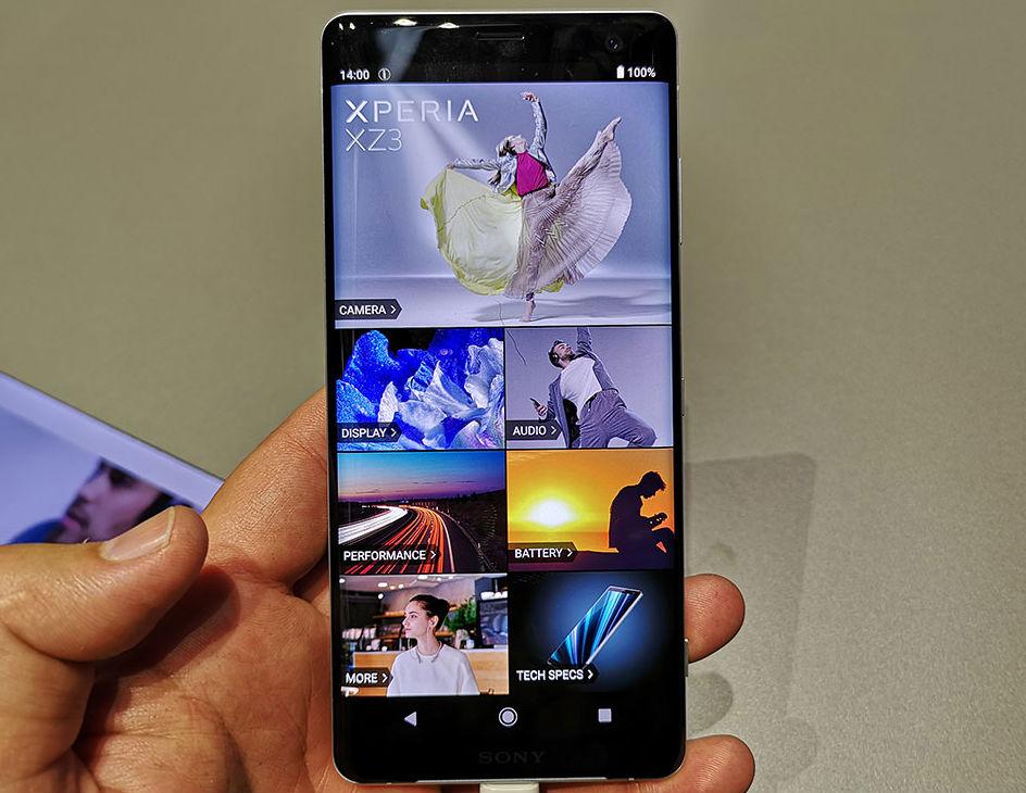 Sony Xperia XZ3 diseño