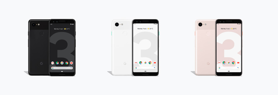oficial Google Pixel 3 pantalla