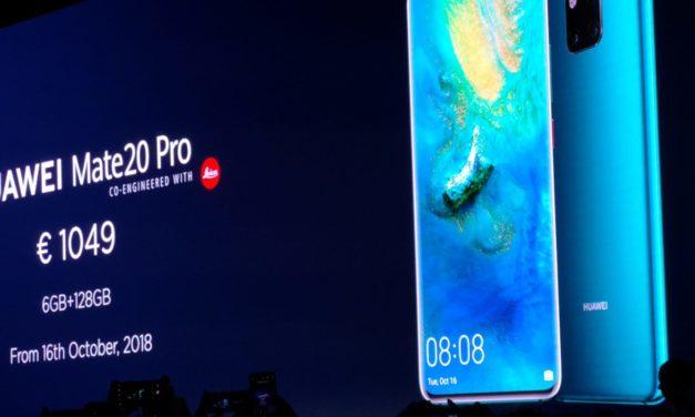 Precio y fecha de salida de los Huawei Mate 20, Huawei Watch GT y Band 3 Pro