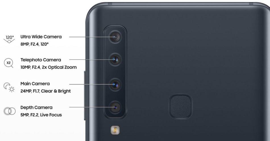 camaras del Samsung Galaxy a9