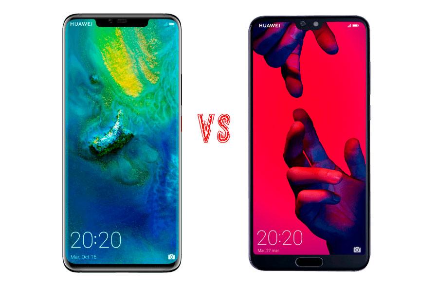Comparativa Huawei Mate 20 Pro vs Huawei P20 Pro