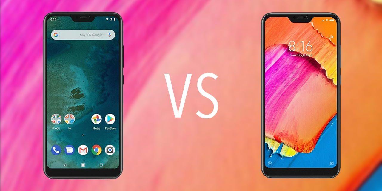 Comparativa Xiaomi Mi A2 vs Xiaomi Note Redmi 6 Pro