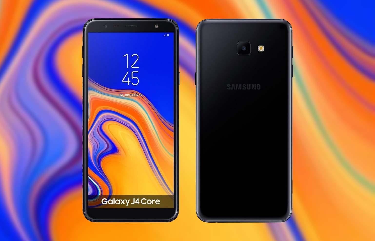 diseño samsung galaxy j4 core