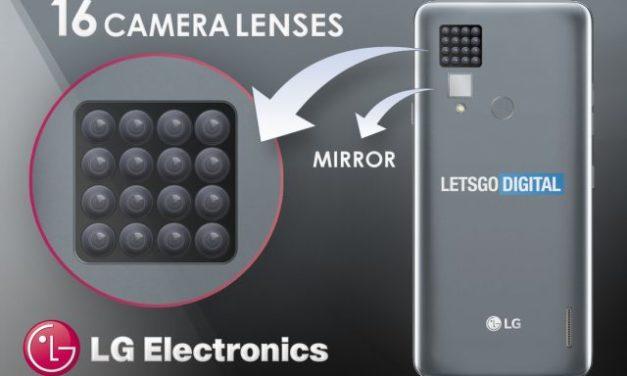 Una patente de LG muestra un móvil con 16 cámaras