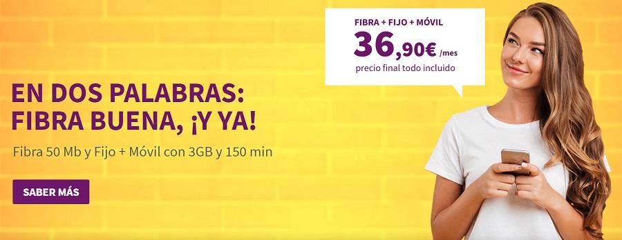 Llamaya, fibra y móvil por 37 euros al mes