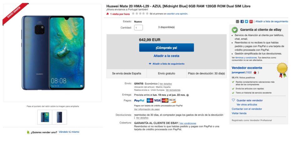 oferta huawei mate 20 ebay