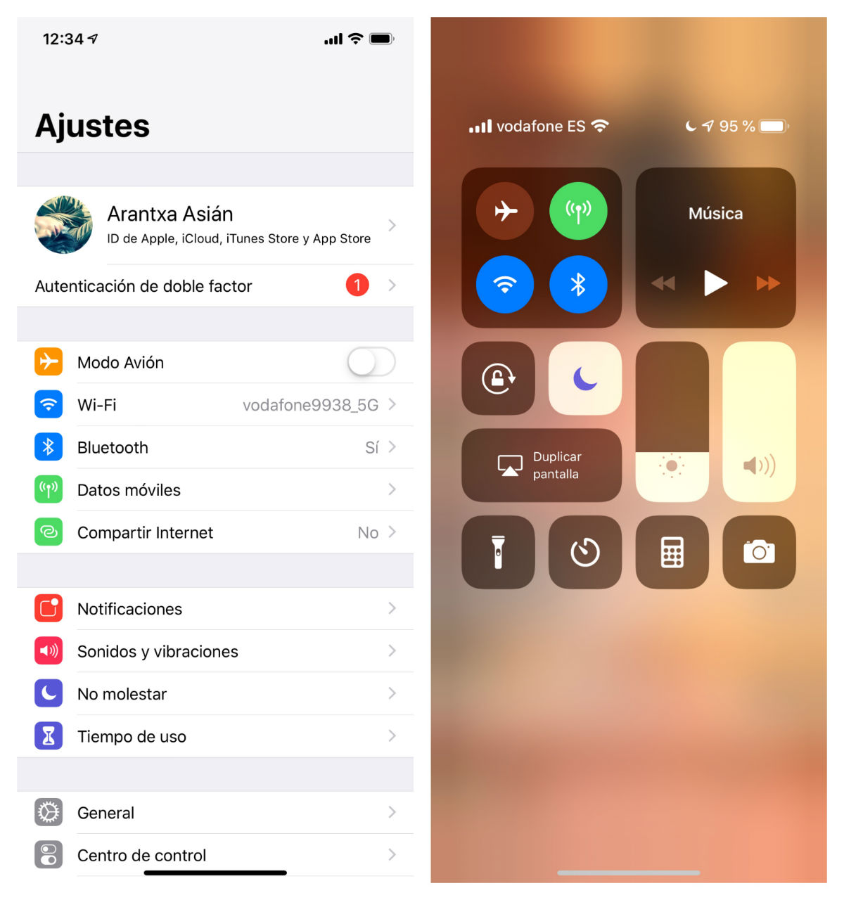 Ajustes iPhone