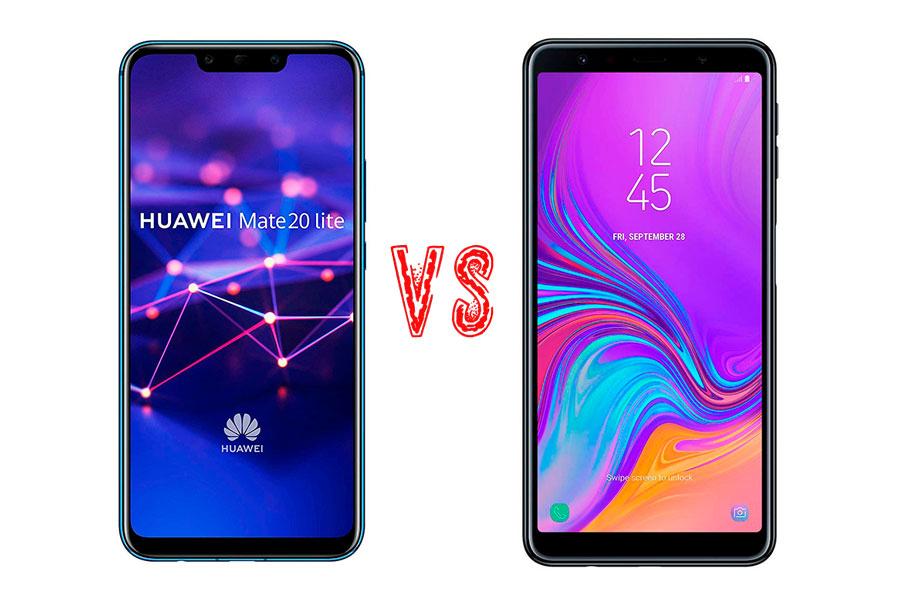 Comparativa Huawei Mate 20 Lite vs Samsung Galaxy A7 2018