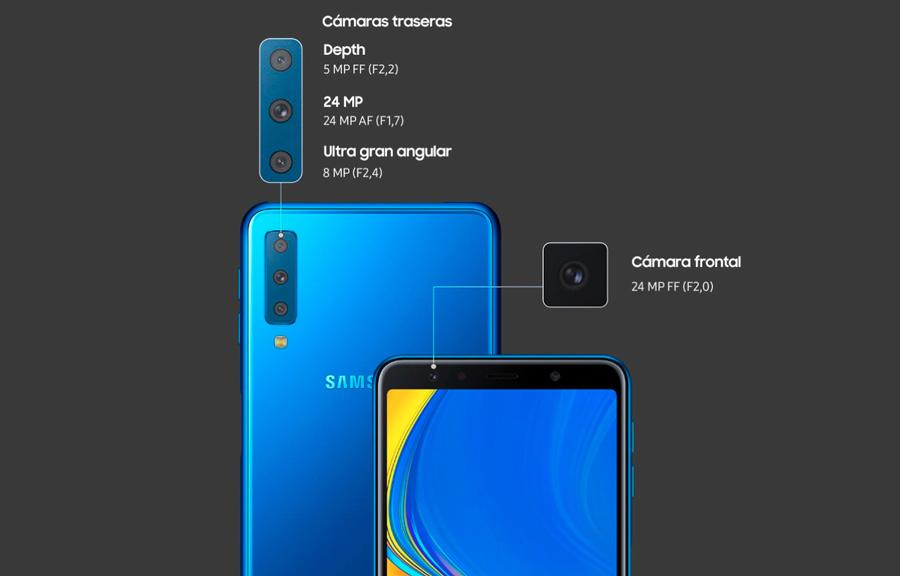 comparativa Huawei Mate 20 Lite vs Samsung Galaxy A7 2018 cámaras A7 2018