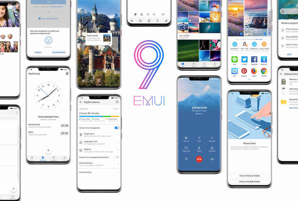 Huawei y Honor anuncian nuevos móviles compatibles con EMUI 9