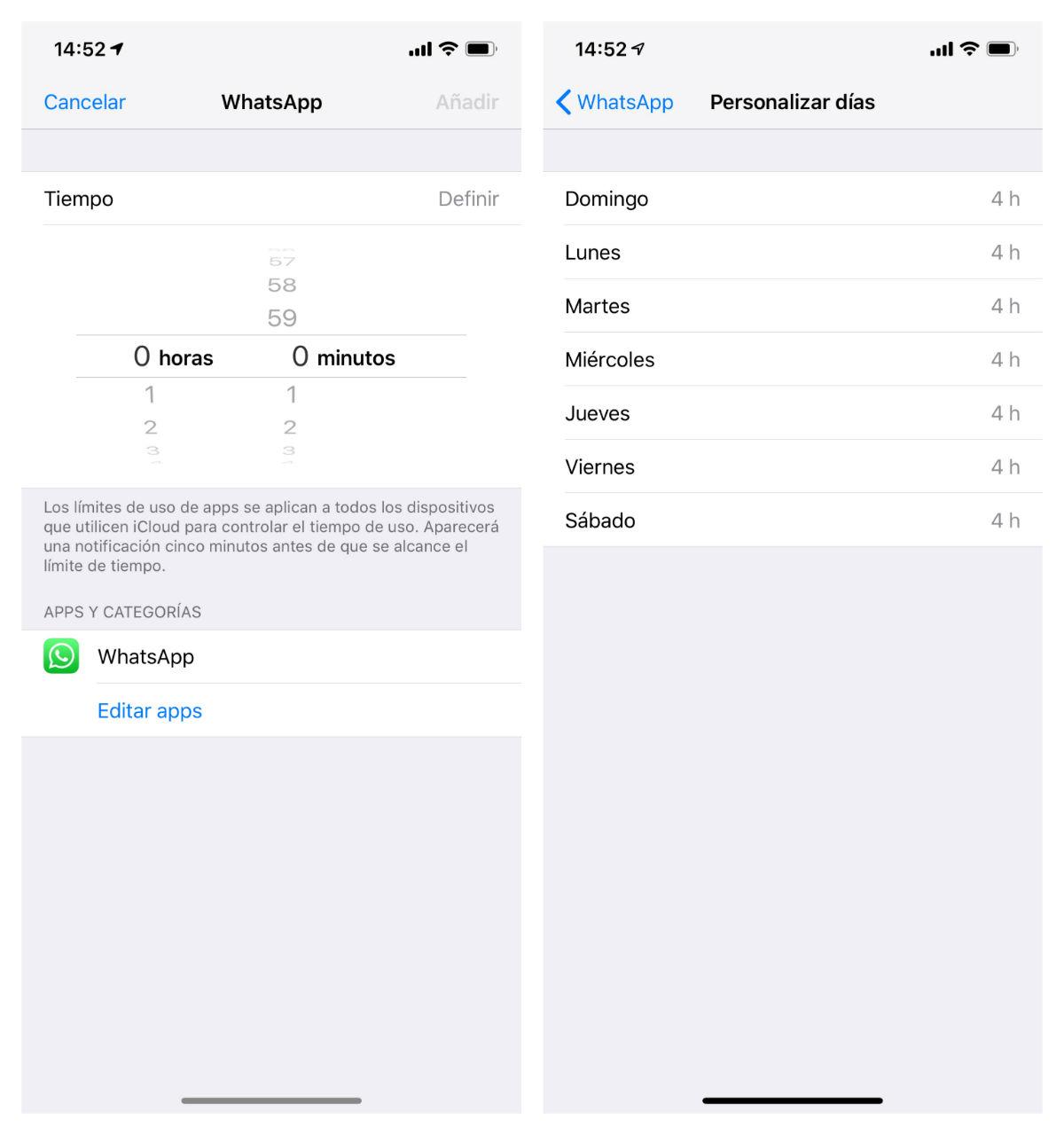 iphone tiempo uso