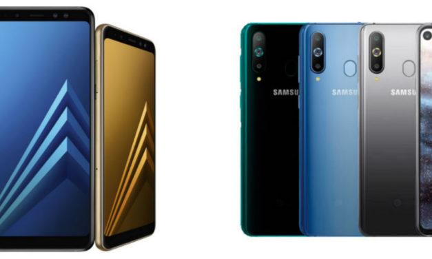 5 diferencias entre el Samsung Galaxy A8 y A8s