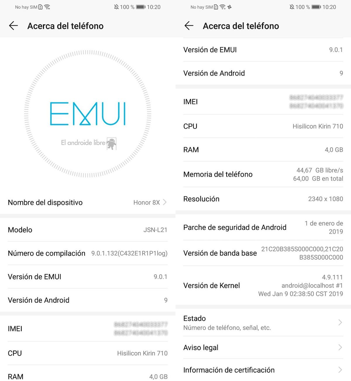 android 9 pie honor 8x emui 9