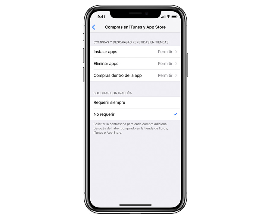 cómo configurar control parental iPhone o iPad compras