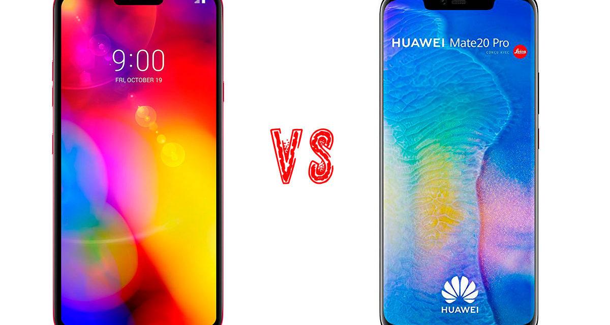 Comparativa LG V40 ThinQ vs Huawei Mate 20 Pro