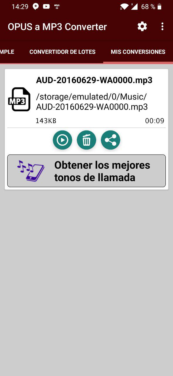 convertir audio de whatsapp a mp3 2