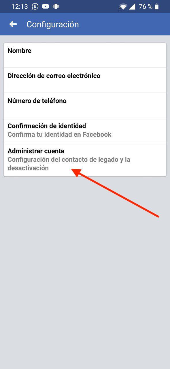 desactivar cuenta facebook 2019 3