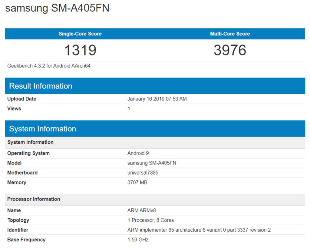 Samsung Galaxy A40, filtradas las características del próximo Galaxy A