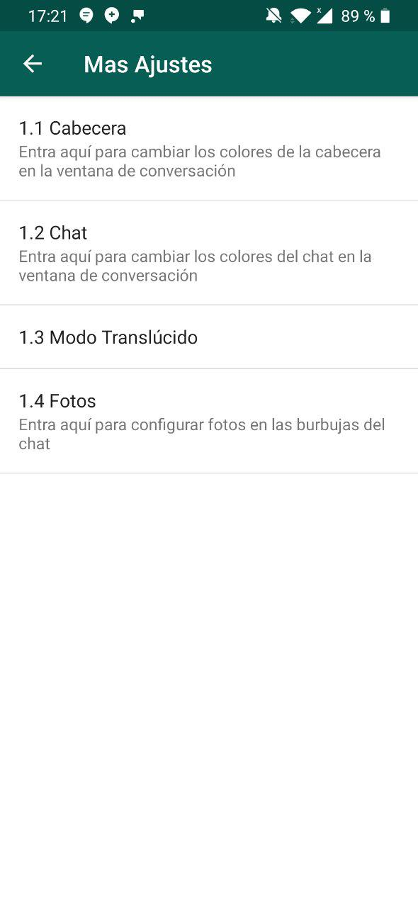 gbwhatsapp modificar colores 5
